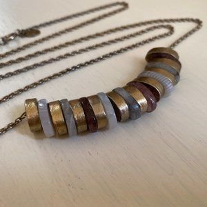 Loft Stone and Gold Droplet Bead Necklace